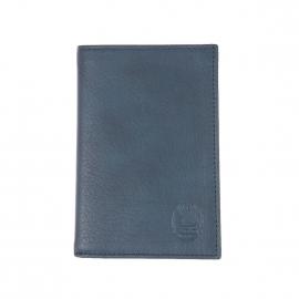 Porte-cartes ultra plat L'aiglon en cuir bleu gris