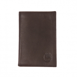 Porte-cartes ultra plat L'aiglon en cuir marron foncé