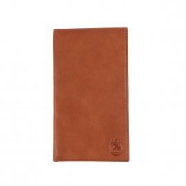 Portefeuille européen ultra plat L'aiglon 18 cartes en cuir grainé cognac