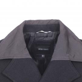 Manteau Antony Morato en laine mélangée noire à empiècements en toile noire