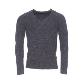 Pull léger col V Antony Morato gris anthracite chiné