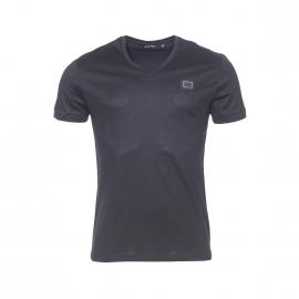 Tee-shirt col V Antony Morato en coton noir