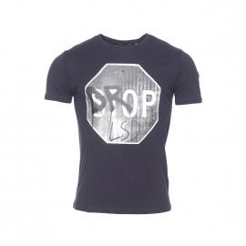 Tee-shirt col rond Antony Morato en coton bleu marine et imprimé à l'avant