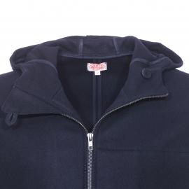 Kabig Héritage Armor Lux en drap de laine bleu marine à capuche