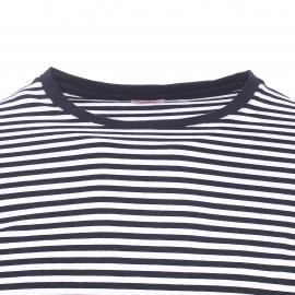 Tee-shirt manches longues Armor lux en coton et modal à rayures blanches et bleu marine