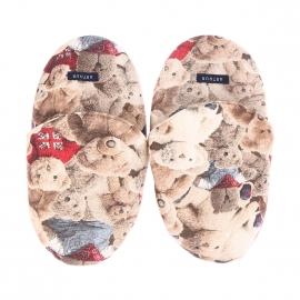 Pantoufles Arthur en coton à imprimé oursons en peluche