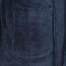 Veste d'intérieur Arthur bleu encre à chevrons noirs