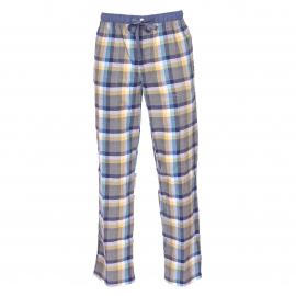 Pantalon d'intérieur Gaspard Arthur à carreaux gris, blancs, jaunes, bleu marine et bleu canard