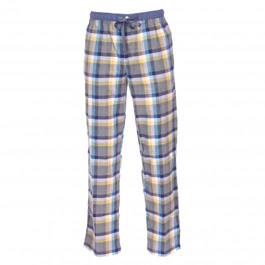 pantalon d 39 int rieur gaspard arthur carreaux gris blancs jaunes bleu marine et bleu canard. Black Bedroom Furniture Sets. Home Design Ideas