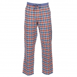 Pantalon d'intérieur Gaspard Arthur gris à carreaux orange, turquoise, blancs, noirs et rouges