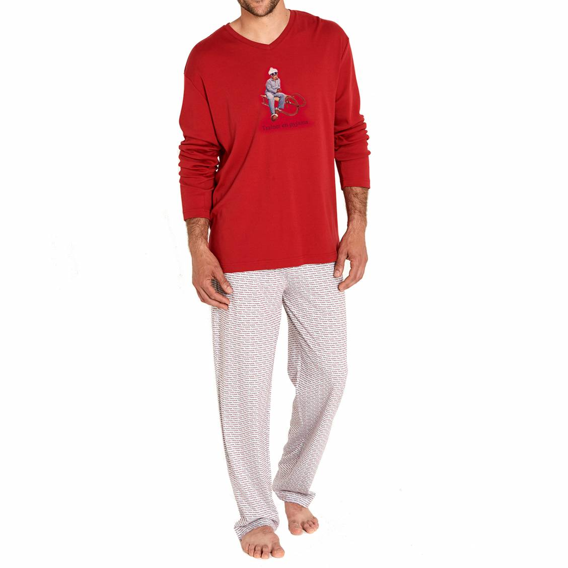 Pyjama chaud arthur traineau tee shirt manches longues for Pyjama homme chaud