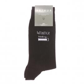 Chaussettes Arthur Aspen en coton et polyamide noir