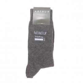 Chaussettes Arthur Aspen en coton et polyamide gris