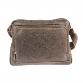 Porte-documents Arthur & Aston en cuir souple marron texturé