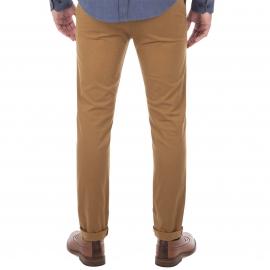 Pantalon chino coupe skinny Ben Sherman camel