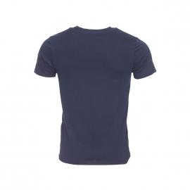 Tee-shirt col rond Ben Sherman en coton bleu marine et flocage à motifs géométiques