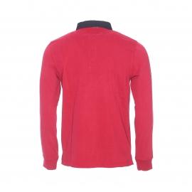 Polo manches longues Genève Bermudes rouge rubis