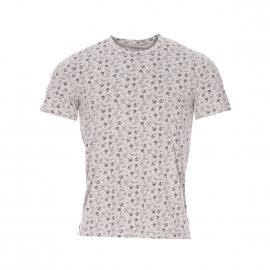 Tee-shirt col rond Chevignon en coton gris effet vintage à motifs