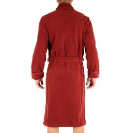 Robe de chambre Baikal Christian Cane en polaire rouge foncé