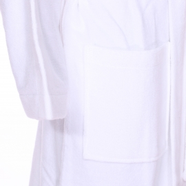 Peignoir de bain Calvin Klein blanc brodé sur les manches
