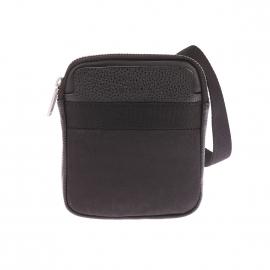 Petite sacoche plate Power Calvin Klein Jeans bi matière noire
