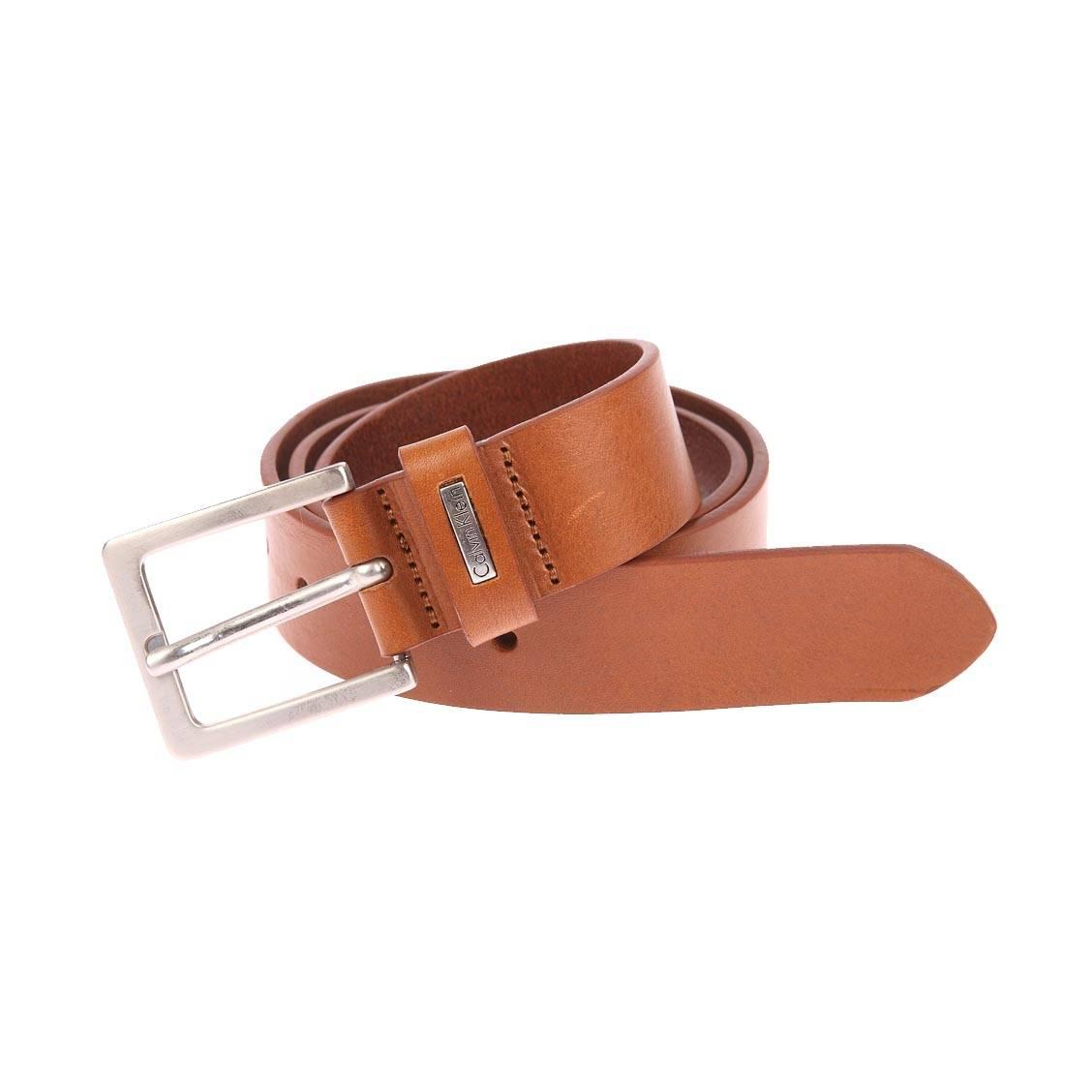 Ceinture Calvin Klein Jeans Mino Belt 3 en cuir cognac à boucle classique 51f5787bb7c