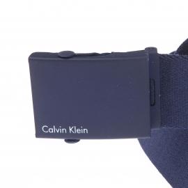 Ceinture ajustable Calvin Klein Jeans en tissu bleu navy à boucle coulissante