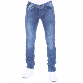 Jean slim Deepend bleu clair patiné