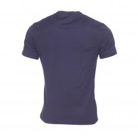 Tee-shirt col V Dolce & Gabbana en coton stretch bleu marine