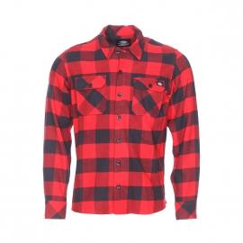 Chemise droite Sacramento Dickies en coton à carreaux rouges et noirs