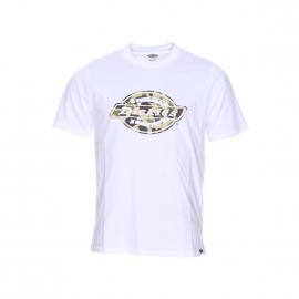Tee-shirt col rond Dickies en coton blanc à motif camouflage