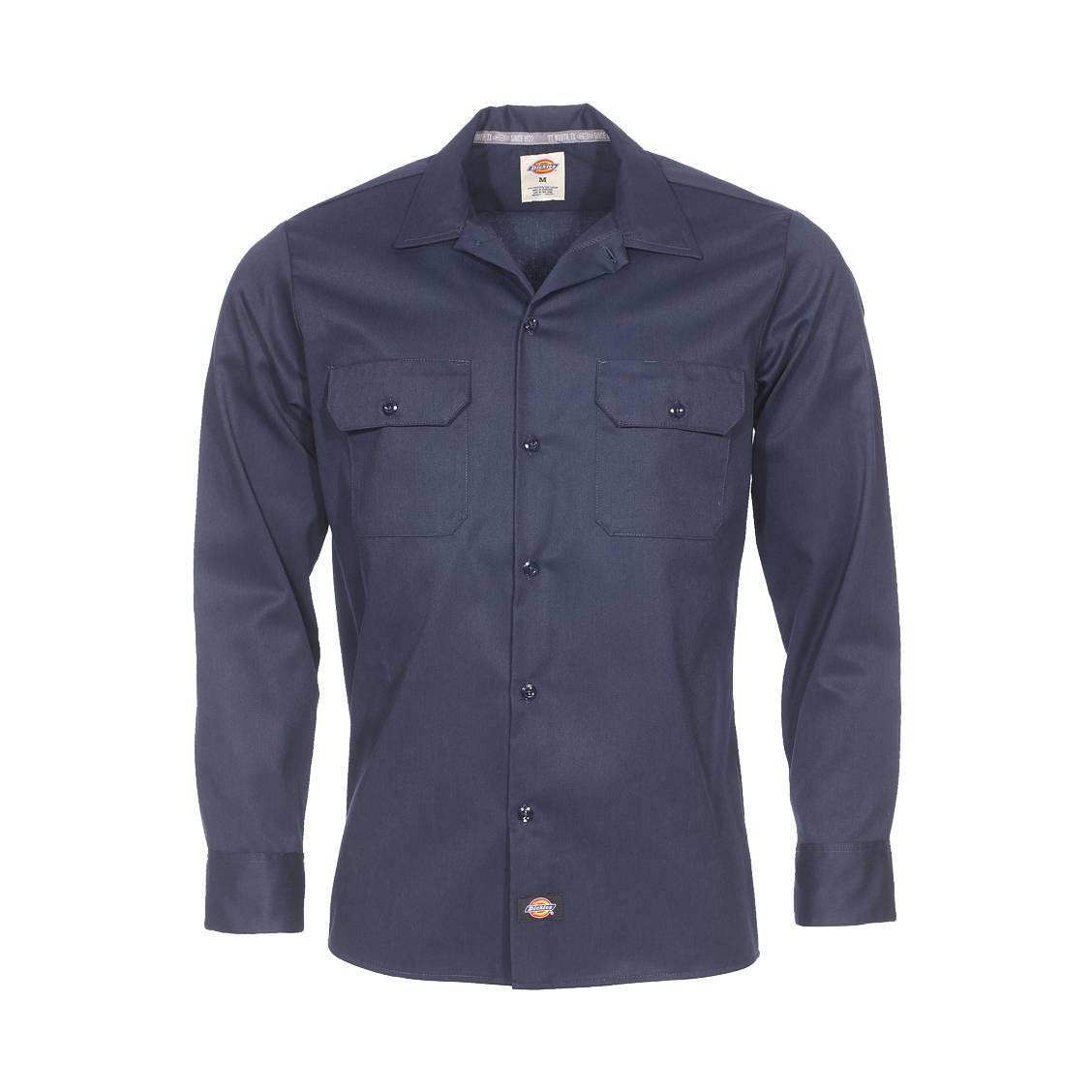 chemise droite dickies bleu marine rue des hommes. Black Bedroom Furniture Sets. Home Design Ideas