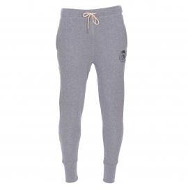 Pantalon de jogging Diesel en molleton gris foncé et floqué du logo Diesel
