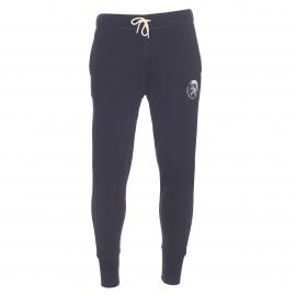 Pantalon de jogging Diesel en molleton noir et floqué du logo Diesel