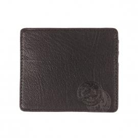 Porte-cartes Johnas I Diesel en cuir de chèvre noir