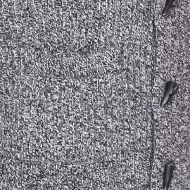 Cardigan col châle Dockers en laine mélangée gris anthracite chiné