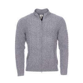 Gilet zippé Dockers en laine mélangée grise