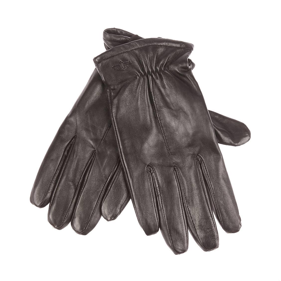 Gants <strong>dockers</strong> en simili cuir noir