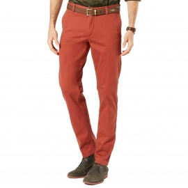 Pantalon Pacific Washed Khaki Slim Tapered Dockers en twill stretch brique