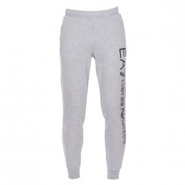 Pantalon de jogging EA7 en coton gris chiné floqué
