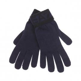 Gants EA7 bleu marine à inscriptions noires