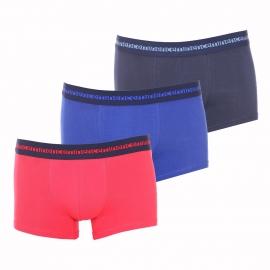 Lot de 3 boxers Eminence Morpho Adjust en coton stretch : rouge, bleu marine et bleu indigo