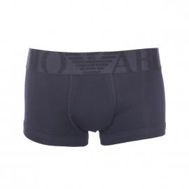 Boxer Emporio Armani en coton stretch noir à large ceinture brodée