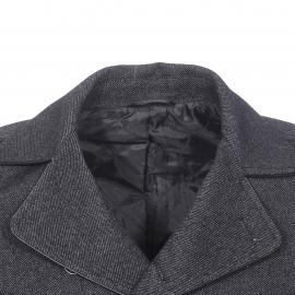 Caban Gianni Ferrucci en tweed et laine mélangée noire