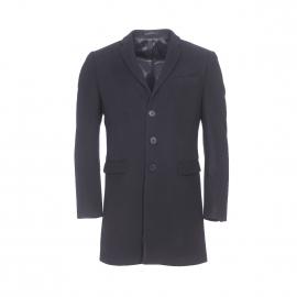 Manteau Gianni Ferrucci en laine et cachemire noir