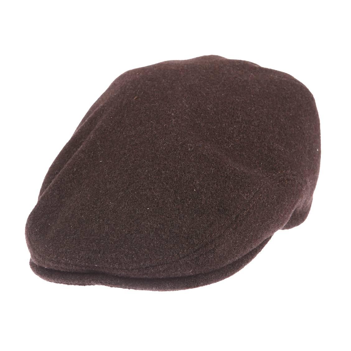 Casquette Bristol-K Göttmann en laine marron avec cache oreilles
