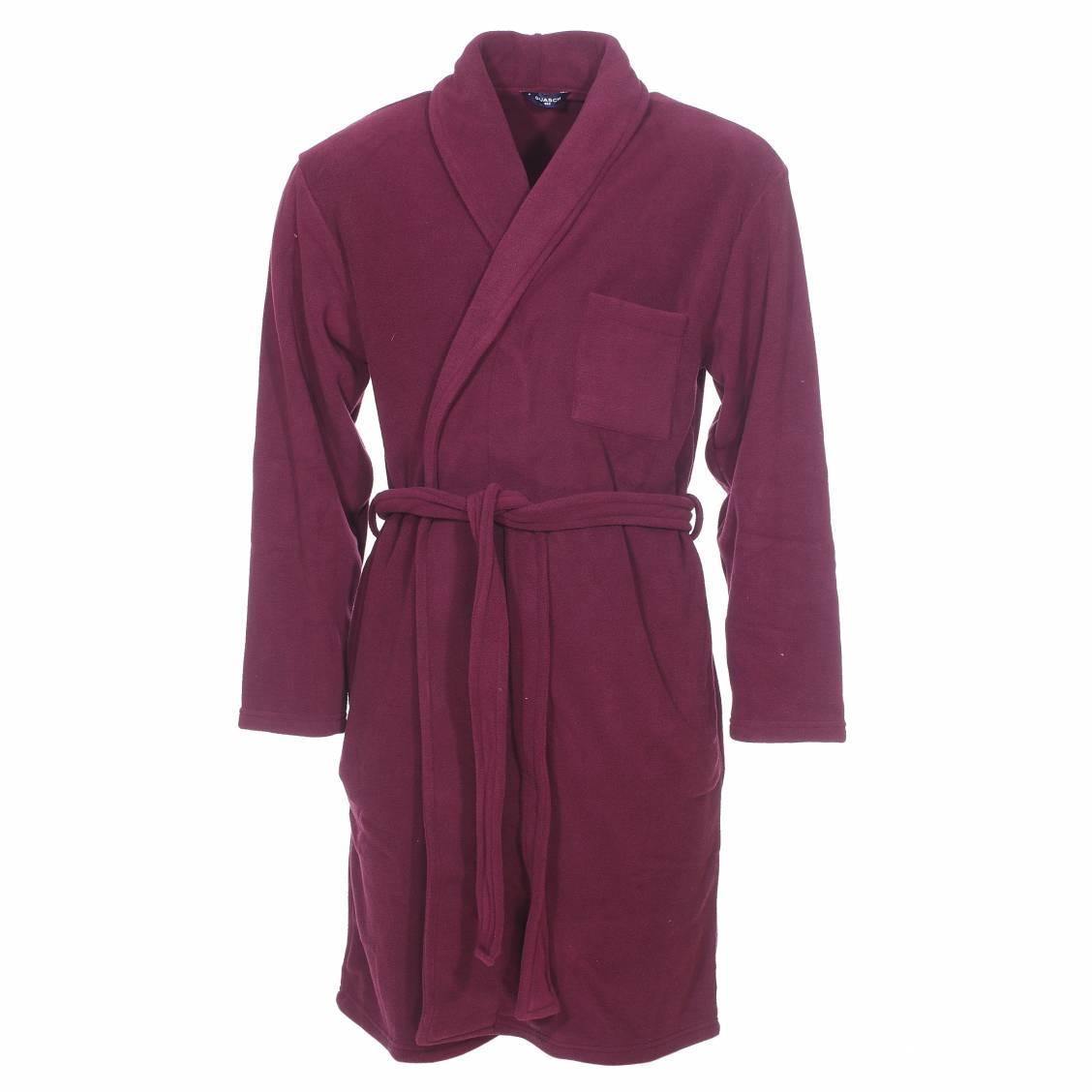 Robe chambre guasch en polaire bordeaux rue des hommes for Chambre bordeaux