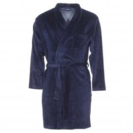 Robe chambre Guasch en velours bleu marine