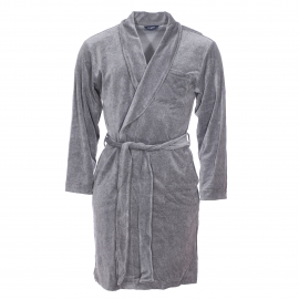 Robe chambre Guasch en velours gris