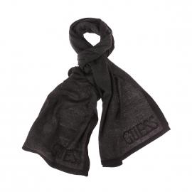 Echarpe Guess noire à fines rayures grises